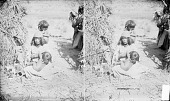 view Mother and Two Children, All in Native Dress; Cradleboard Nearby 1873 digital asset number 1