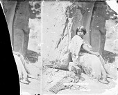 view Woman in Native Dress, Cradleboard Nearby 1873 digital asset number 1