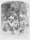 view Two Men in Native Dress with Headdresses, Both Holding Bows and Arrows n.d digital asset number 1