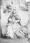 view Woman in Partial Native Dress Making Cradleboard n.d digital asset number 1