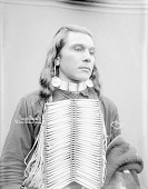 view Portrait (Front) of Frank Randall in Partial Native Dress with Breastplate and Ornaments 1900 digital asset number 1