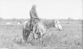 view Ko-We-No in Partial Native Dress On Horseback 1892 digital asset number 1