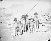 view [A group of six nude girl children of Walpi, Arizona] 1879 digital asset number 1