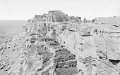 view View of Pueblo and Sheep Corrals, Group of People Nearby 1872 digital asset number 1