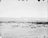 view View of Pueblo, Corrals, and Cows; Plain, Mesas, and Hills in Distance 1899 digital asset number 1