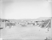 view View of Pueblo and Corrals; Mesa, Plain, and Hills in Background 1899 digital asset number 1