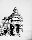 view Portrait (Front) of Alejando Padilla, Governor of Isleta, in Partial Native Dress 1868 digital asset number 1