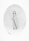 view The Second Cacique in Native Dress and Holding Staff of Office; Adobe Wall in Background 30 SEP 1871 ? digital asset number 1