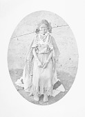 view Girl in Native Dress with Ornaments Near Adobe Wall 1877 digital asset number 1