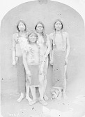 view Group of Four Corridores, Foot Racers On Feast Days, in Native Dress with Body Paint 30 SEP 1871 ? digital asset number 1