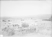 view View of Pueblo From Roof of Church, Also Showing Corrals and Beehive Ovens 1899 digital asset number 1