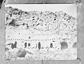 view [Cavate lodges on the Rio Grande, New Mexico in the vicinity of the modern Pueblo of Santa Clara, New Mexico] 1885 digital asset number 1