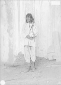view Governor Salla in Native Dress Near Adobe Wall 1899 digital asset number 1