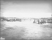 view View of Pueblo and Wagons 1899 digital asset number 1