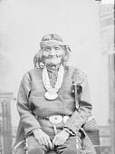 view Portrait (Front) of Governor Hai-Ya-Ah-Tsai-Hi or Pedro Pino in Native Dress with Concha Belt and Ornaments 1879 digital asset number 1