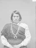 view Portrait (Front) of We-Wha in Female Native Dress with Squash Blossom Necklace 1894 digital asset number 1