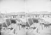 view View of Walkway in Pueblo, Corn Drying On Adobe House Roofs 1879 digital asset number 1