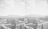 view Looking Over Pueblo Rooftops To the Southeast and Taaiyalone Mesa 1899 digital asset number 1