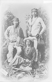 view Group Portrait of Three Native Scouts 1880 digital asset number 1