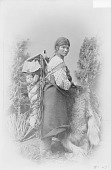 view Portrait (Profile) of Chuna, Woman, in Native Dress with Ornaments and Carrying Child in Cradleboard 1880 digital asset number 1