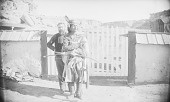 view [Mooney and a Navajo] Mooney?, Both near Wood Fence 1892 digital asset number 1