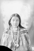 view Portrait (Front) of Hattie, Daughter of Tom Chiricahua and Co-Seh, in Native Dress with Ornaments 1898 digital asset number 1
