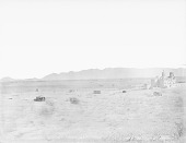 view View of Village with Mission, Adobe Houses, Elevated Storage Shelters, Brush Houses and Mud and Pole Houses 1894 digital asset number 1