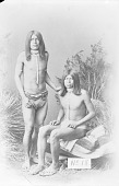 view Portrait of Two Men in Breechcloths and with Ornaments 1880 digital asset number 1