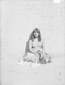 view Wife of Daugherty, 35 Years Old?, in Native Dress, Near Brick Wall 1900 digital asset number 1