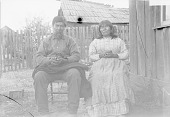 view Miscellaneous views and portraits: seated man and woman SEP 1892 digital asset number 1