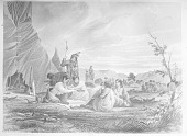 """view """"Sioux Indians Playing the Game of Plum Stones"""" 1852 digital asset number 1"""