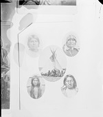 view Group of Individual Portraits Outside Tipi digital asset: Group of Individual Portraits Outside Tipi