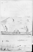 view Drawing by John White, 1585, of Several Fishing Techniques n.d digital asset number 1