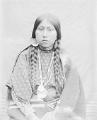 view Portrait (Front) of Yakima Sally in Native Dress with Ornaments 1900 digital asset number 1