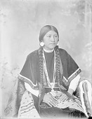 view Portrait (Front) of Ella, Daughter of Shu-Ta-Mo-Ne, in Partial Native Dress with Ornaments 1900 digital asset number 1