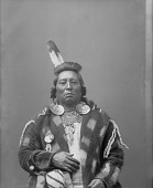 view Portrait (Front) of Harlish Washshomake or Chief Wolf Necklace in Partial Native Dress with Ornaments 1894 digital asset number 1