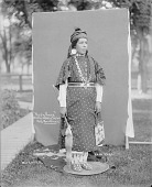 view Rosa Parr in Partial Native Dress with Ornaments and Holding Bag and Pipe-tomahawk 1900 digital asset number 1