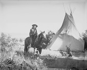 view Henry Campo On Horseback Near Tipi 1900 digital asset number 1