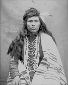 view Portrait (Front) of Chief Carni-Nee in Partial Native Dress With Ornaments 1900 digital asset number 1
