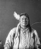 view Portrait (Front) of Hinmaton-Yalatkit or Hin-Ma-Toe-Ya-Lut-Kiht (Thunder Coming From The Water Up Over The Land), Called Chief Joseph, in Native Dress with Ornaments APR 1897 digital asset number 1