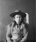 view Portrait (Front) of Ollicot or Ahlakat, Nephew of Chief Joseph, Son of Ahlakat, with Ornaments APR 1897 digital asset number 1