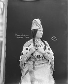 view Portrait (Front) of Princess Umpqua in Native Dress with Ornaments and Hat 1900 digital asset number 1