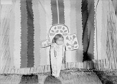 view Child of Spokan Jim in Decorated Cradleboard Near Blanket and Woven Mats 1905 digital asset number 1