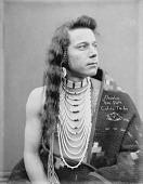 view Portrait (Front) of Charlie Celila or Van Pelt in Native Dress with Ornaments 1900 digital asset number 1
