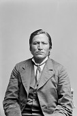 view Portrait (Front) of Mato-Wata-Kpe (Charging Bear), Called Chief John Grass, Son of Pezhi 1880 digital asset number 1