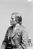 view Portrait (Profile) of Mato-Wata-Kpe (Charging Bear), Called Chief John Grass, Son of Pezhi 1880 digital asset number 1