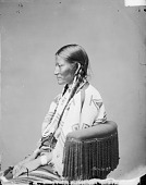 view Portrait (Profile) of Wife of Chief Sinte-Galeshka or Cin-Te-Gi- Le-Ska or Tshin-Tah-Ge-Las-Kah (Spotted Tail) in Native Dress with Ornaments 1872 digital asset number 1