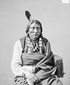 view Portrait (Front) of Che-Tan-Ta-Kpi or Tske-Tan-Vua-Tak-Pah or Ceta-Watakpe (Charge On The Hawk) in Partial Native Dress with Ornaments and Holding Pipe 1872 digital asset number 1