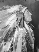 view Portrait (Profile) of Chief Shot in the Eye, Also Called White Mountain, in Native Dress with Headdress SEP 1907 digital asset number 1