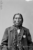 view Portrait (Front) of Mi-Wa-Kan Yu-Ha-La, Called Sword, Captain of Native Police and Judge of Native Court 1875 digital asset number 1